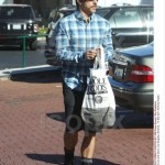 anthony kiedis new short hair style tartan shirt