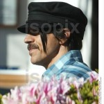 anthony kiedis new short hair black cap