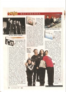 Magazine scan from article in Veja 2003 about RHCP