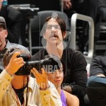 Anthony Kiedis black t-shirt lakers game