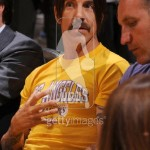 anthony kiedis may2 2011 LA lakers yellow t-shirt