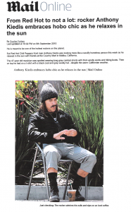 Anthony Kiedis relaxes in Malibu and is accused of looking like a hobo or tramp