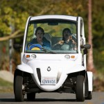 Anthony Kiedis and ex-girlfriend Heather Christie riding in a golf cart, Malibu January 2nd 2011