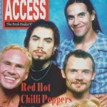 Anthony Kiedis on cover Access magazine Red Hot Chili Peppers Rockin' On 2011