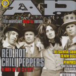 Anthony Kiedis on cover Alternative Press magazine Red Hot Chili Peppers Rockin' On 2011