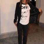 Anthony Kiedis arriving at the opening Tom Ford Store