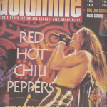 Anthony Kiedis on cover Goldmine magazine Red Hot Chili Peppers Rockin' On 2011