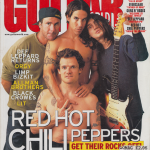Anthony Kiedis on cover Guitar World magazine Red Hot Chili Peppers Rockin' On 2011