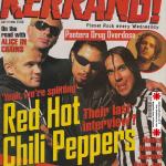 Anthony Kiedis on cover Kerrang! magazine Red Hot Chili Peppers