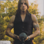 Anthony Kiedis on cover Zoo magazine Red Hot Chili Peppers