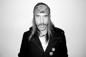 Anthony Kiedis with headscarf in Beverly Hills
