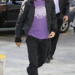 Anthony Kiedis 2010 lakers purple t-shirt