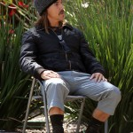 Anthony Kiedis 2010 deckchair mustache