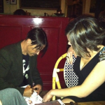 Anthony Kiedis Cafe Stella fundraiser fan autograph