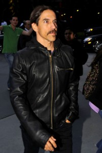 anthony kiedis black leather jacket short hair
