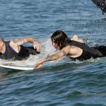 moonman pranks Flea and anthony kiedis on surfboards with barracuda