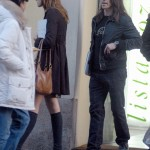 Anthony Kiedis and girlfriend in Milan, Italy -RESTRICTED RIGHTS