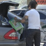 Anthony Kiedis and girlfriend Heather Christie buying diapers in Malibu