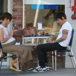Anthony kiedis heather christie pregnant everly bear son cafe
