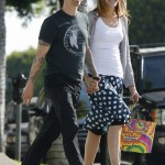 Anthony kiedis heather christie pregnant everly bear son holding hands