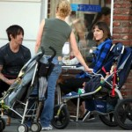 anthony kiedis heather christie baby cafe pregnant with everly bear