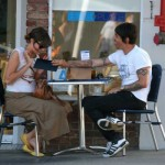 Anthony kiedis heather christie pregnant everly bear son coffee shop