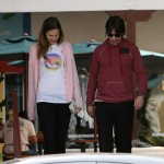 Anthony Kiedis  and his girlfriend take a walk 1/1
