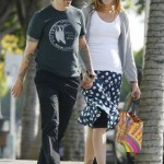 Anthony kiedis heather christie pregnant everly bear son shopping bags