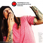 anthony kiedis pink t-shirt delta airline Los Angeles feature