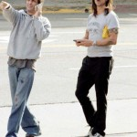 EXCLUSIVE: Red Hot Chilli Pepper singer Anthony Kiedis leaves Tower Records on Sunset Blvd