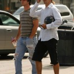 "Anthony Kiedis grabs a coffee at ""The Coffee Bean"" in Beverly Hills"