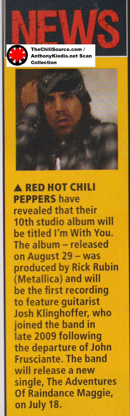red hot chili peppers new interview I'm with you album
