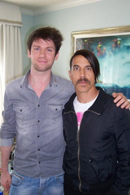 Anthony kiedis new lopsided hair style Los Angeles I'm with you promotion photo interview