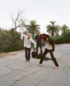 Anthony Kiedis with new Red Hot Chili Peppers line up Josh Klinghoffer Chad Smith and Flea