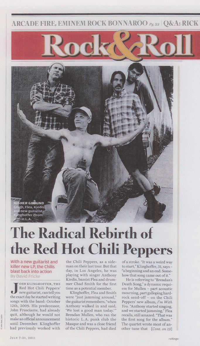 I'm With You RHCP interview anthony Kiedis malibu
