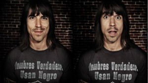 twin photos of Anthony Kiedis