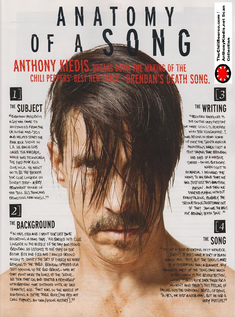Anthony Kiedis Cover of Q Magazine (Full Scans) | Anthony Kiedis.net