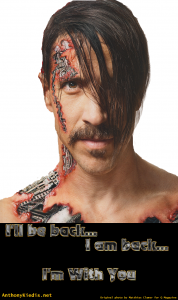 anthony kiedis Q magazine front cover poster