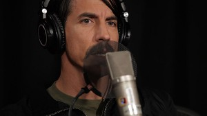 anthony kiedis with mic