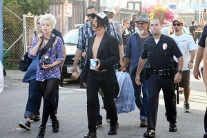 Beth Jeans Houghton Anthony Kiedis at Venice Beach for RHCP video Shoot