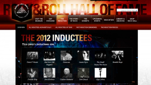 Anthony Kiedis Red Hot Chili Peppers Hall of Fame inductees 2012