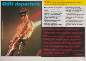 Photo anthony kiedis guitarist article Frusciante leaves RHCP