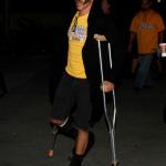 Anthony Kiedis leg injury Beth Jeans Houghton new girlfriend