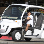 Anthony Kiedis driving white car LA