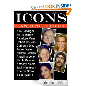 lawrence grobel icons book cover featuring anthony kiedis