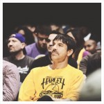 anthony Kiedis new hair cut LA Lakers game recent photo 2013