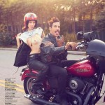 anthony kiedis current girlfriend March 2013 on harley davidson bike