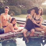 anthony kiedis new girlfriend March 2013 topless women pool paddling