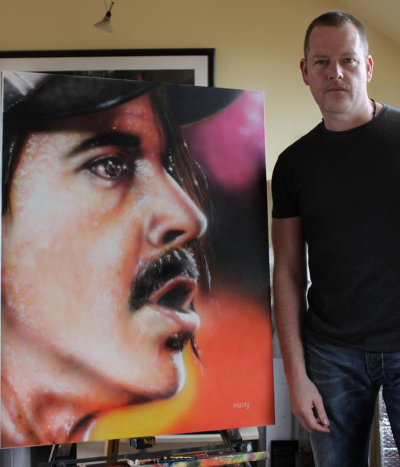 Mark getty scottish artist portrait Anthony Kiedis