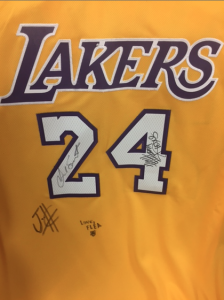 Lakers-RHCP-signed-charity-jersey